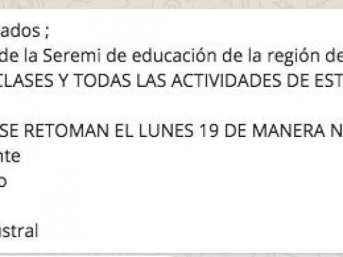 Suspensión actividades académicas y extraescolares viernes 16 de abril